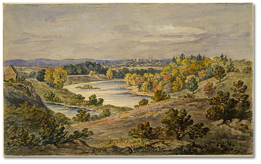 "Aquarelle : [Ottawa] ""The Rideau River"" [""From the Hog's Back""], [vers 1876]"
