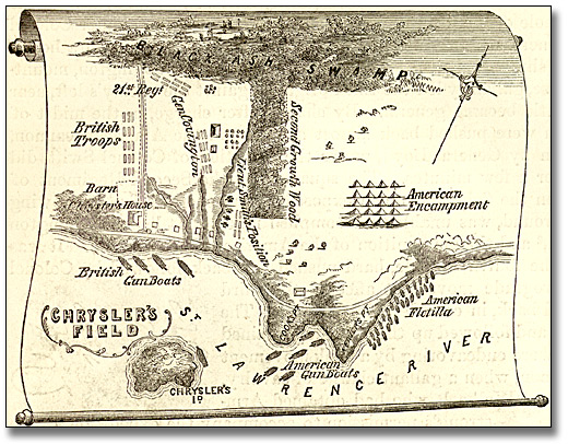 Illustration : Map of the Chrysler's Field, 1869