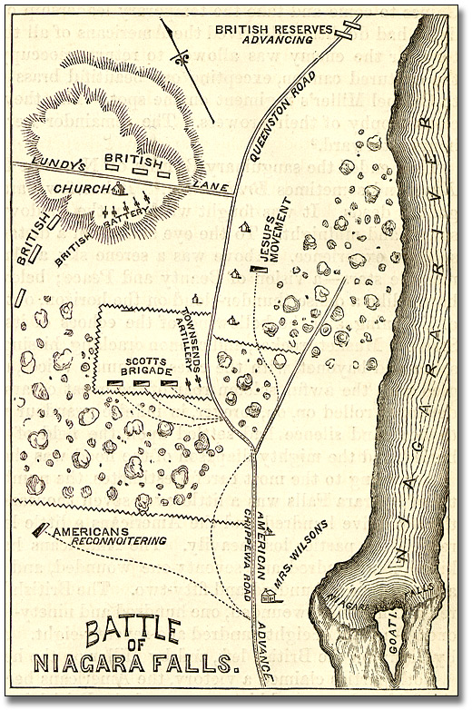 Illustration : Battle of Niagara Falls [Lundy's Lane], 1869