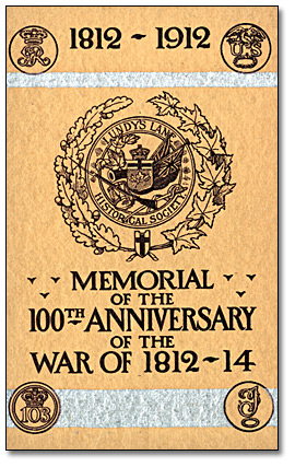 Page couverture d'un brochure : [Memorial of the 100th Anniversary of the War of 1812-1814], 1912