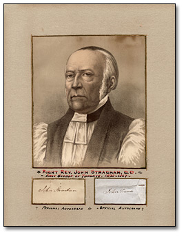 Lithographie : Right Rev. John Strachan, D.D., [vers 1865]