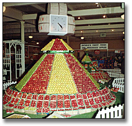 Photographie : Ontario apple display at the Royal Agricultural Winter Fair, 18 novembre 1966