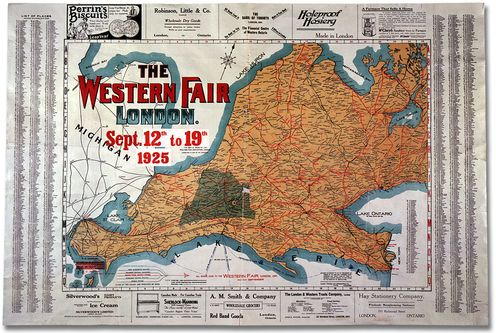 Carte : The Western Fair, London. 12 à 19 septrembre 1925