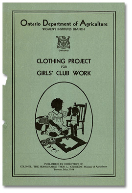 Clothing project for Girls' Club work, mai 1934