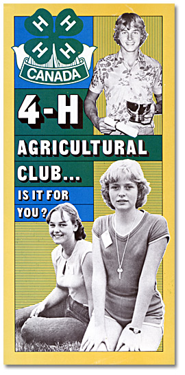 4-H Agricultural Club . . . Is it for you? [entre 1972 et 1982]