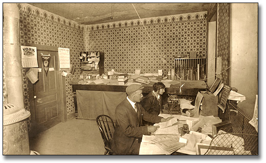 Photo: Frederick H. A. Davis' law office, 1914