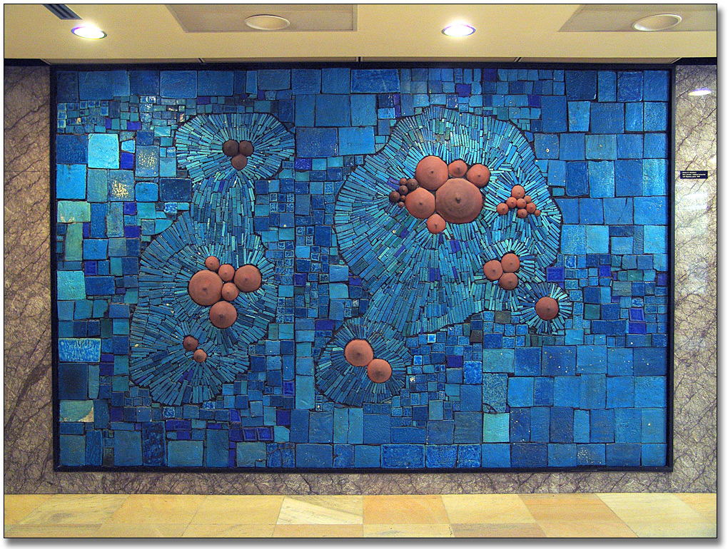 Photographie : Blue Mosaic [Mosaïque bleue], 1966-68 - Merton F. Chambers