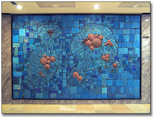 Photographie : Blue Mosaic [Mosaïque bleue], 1966-68 - Merton F, Chambers