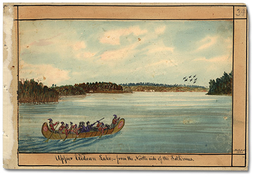 Aquarelle: Upper Rideau Lake; from the North side of the Isthmus, 1830