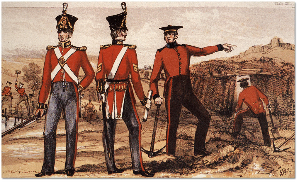 Royal Sappers Amp Miners Uniforms And Working Dress 1825