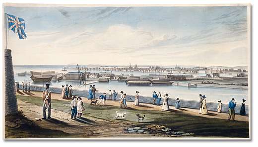 Imprié : Kingston from Fort Henery [Henry], [vers 1828]