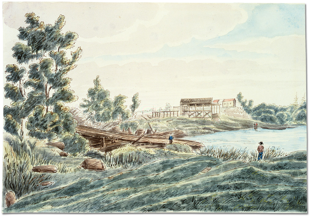 Aquarelle : Kingston Mills, (Ontario), [vers 1830]