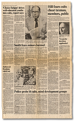Clipping from the Toronto Star, Infiltrators spied on us - cult prober, June 17, 1980 - Page 2