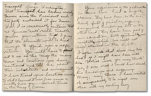 Letter from May Edwards Hill to Daniel G. Hill II, January 5, 1919, Pages 2-3