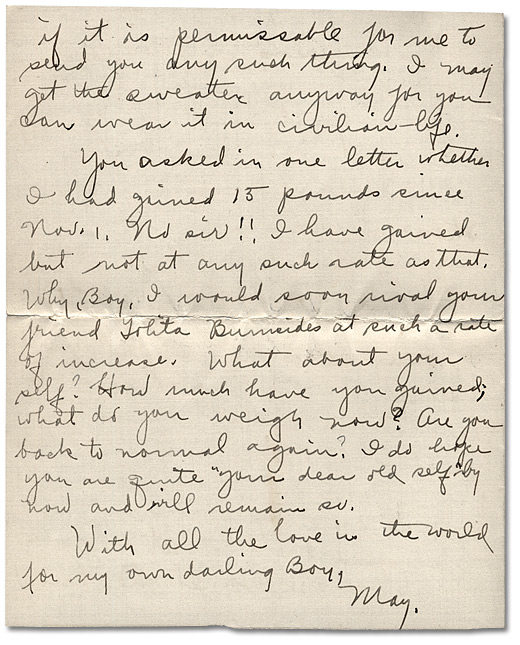 Letter from May Edwards Hill to Daniel G. Hill II, January 5, 1919, Page 8