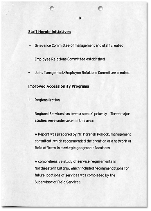 Ombudsman Initiatives 1984-1989, Page 9