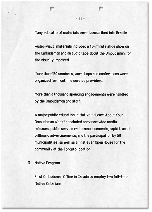 Ombudsman Initiatives 1984-1989, Page 11