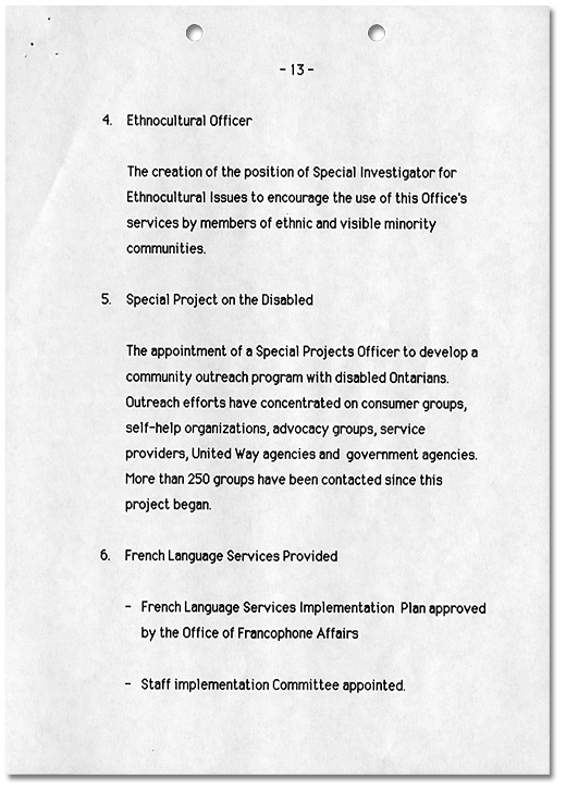 Ombudsman Initiatives 1984-1989, Page 13