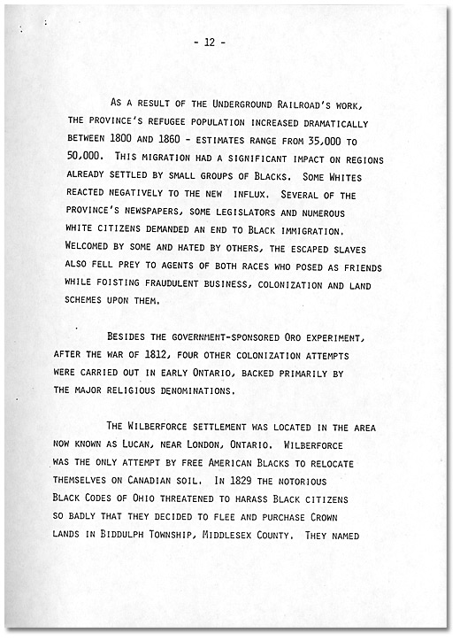 Remarks by Dr. Daniel G. Hill, May 21, 1985 - Page 12