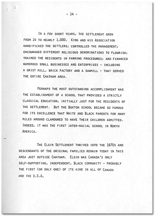 Remarks by Dr. Daniel G. Hill, May 21, 1985 - Page 14