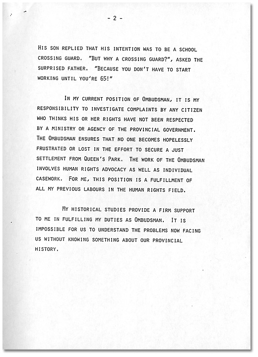 Remarks by Dr. Daniel G. Hill, May 21, 1985 - Page 2
