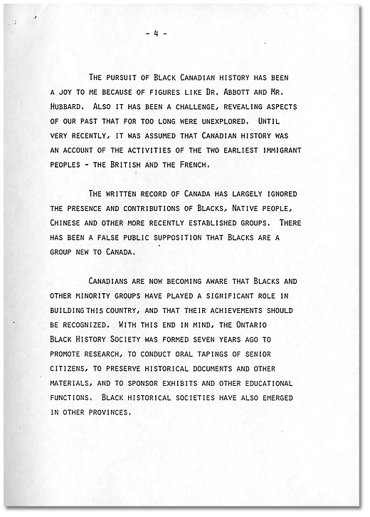 Remarks by Dr. Daniel G. Hill, May 21, 1985 - Page 4