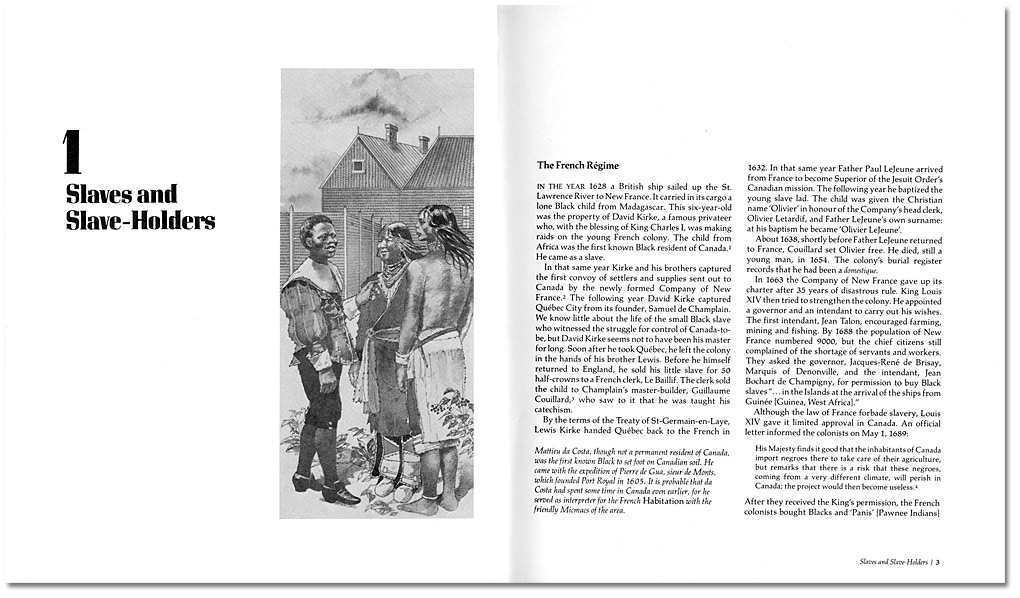 """The Freedom-Seekers: Blacks In Early Canada"", de Daniel G. Hill, 1981, Pages 2-3"