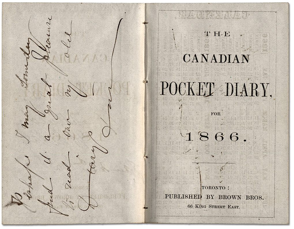 The Canadian Pocket Diary, 1866
