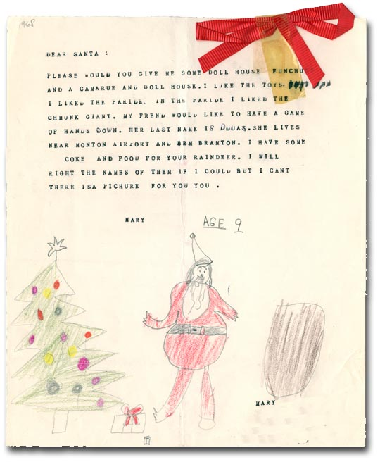 Letters to Santa Claus, [195?]