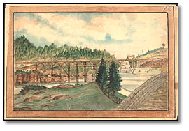 Construction du pont de Grand Trunk Railway