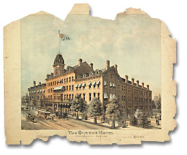 Lithographie : The Queens Hotel, Toronto