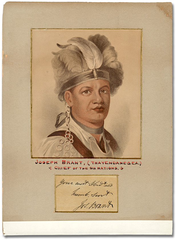 Gravure : Joseph Brant (Thayendanegea), Chief of the Six Nations, [1780]