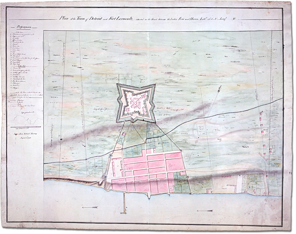 Plan Of The Town Of Dtroit And Fort Lernoult 1792