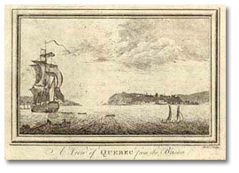 Gravure : A View of Québec from the [Bason] [vers 1780]