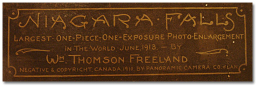 Niagara Falls Panorama Inscription