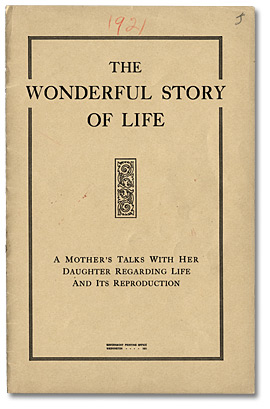 The Wonderful Story of Life. Dépliant, page couverture, 1921