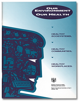 Our Environment - Our Health. Brochure, page couverture, 1993