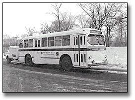Photo: Ontario Department of Health Mobile Tuberculosis Clinic on a bus, [ca. 1960]