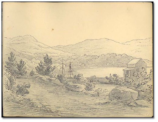 Land View from the Port at West Point, New York, 1837