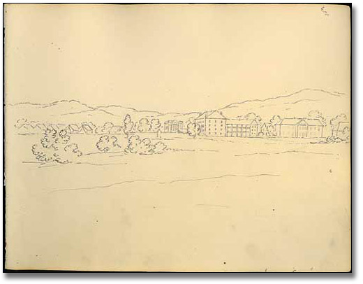 [West Point Military College], School Camp and Parade Ground, West Point, New York, 1837