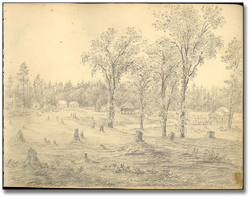 Peterborough from White's Tavern, 1837