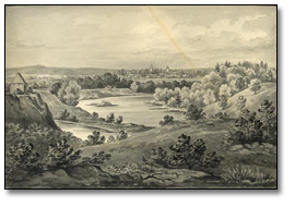 [Ottawa] the Rideau River from the Hog's Back, [vers 1876]