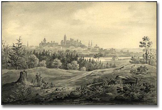 [Ottawa] from the woods behind Rideau Hall, [vers 1876]