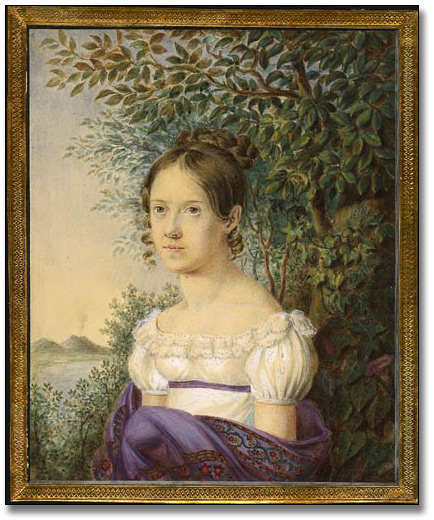 Portrait of Anne Langton by an artist (?C.B.) at Rome, 1819