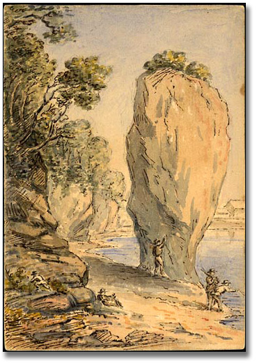 Anne Langton Old Woman Flower Pot Rock Dalhousie New Brunswick 1862