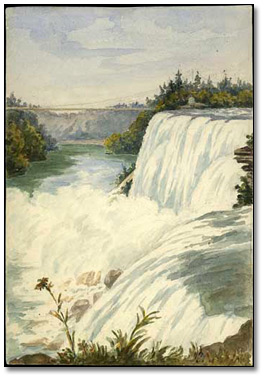 [Niagara Falls] from American side, 1873