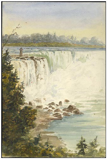 [Niagara Falls] Horseshoe [Fall] from the American Side, 1873