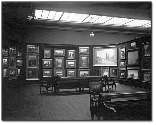Photographie : King Street West gallery [Galerie de la rue King Ouest], 1904