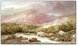 Aquarelle : Entrance to the Lledr Valley, North Wales, Storm Clearing Off [Entrée de la vallée Lledr, Nord du Pays de Galles, Fin de tempête], 1876
