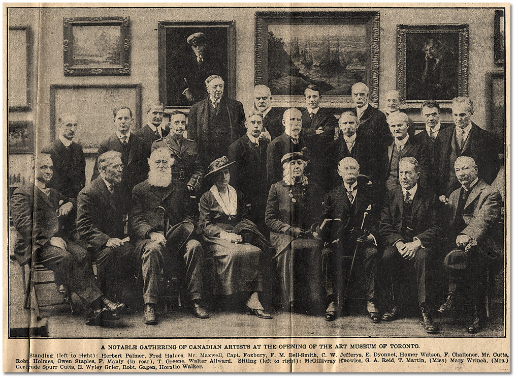 Newspaper Clip: Ontario Society Members at the Opening of the Art Museum of Toronto, 4 avril 1918